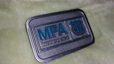 Vintage 1978 MFA Incorporated BTS Solid Brass Belt Buckle RARE