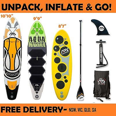 Inflatable Stand Up Paddle Board SUP Aqua Marina Vibrant Breeze Magma