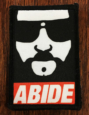 "The Dude ""Abide"" Morale Patch Tactical ARMY Hook Military Army USA Flag Lebowski"