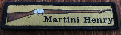 1x4 Martini Henry Rifle Morale Patch Zulu Tactical Military Army Badge Hook Flag