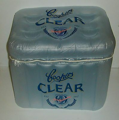 Coopers Beer brand new 2 slab inflatable plastic cooler for home bar collector