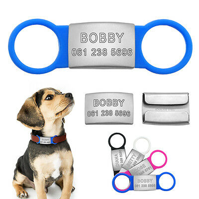 Custom Dog Tags Personalized Dog Collar Tags Slide On 3/4'' Dog Collar 2 Colors