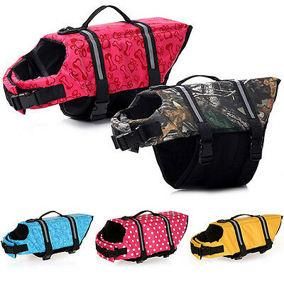 AS_ Multi-Size Clothes Pet Dog Cat Saver Life Jacket Safety Vests Lifejacket Eag