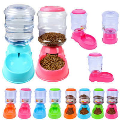 3.5L Large Automatic Pet Food Drink Dispenser Dog Cat Feeder Water Bowl Dish Hot