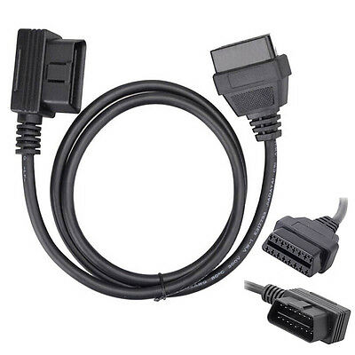 AL_ 1m OBD2 16Pin Male to Female Cable ELM327 Diagnostic Extender Cable Nifty