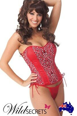 NEW Showtime by Shirley Bandana Corset, Womens Sexy Lingerie, Corset/Bustier