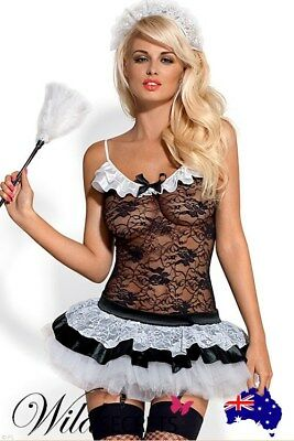 NEW Obsessive French Maid 5 Pce Costume, Babydoll/Chemise, Womens Sexy Lingerie