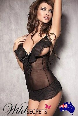 NEW Anais Caprice Peek-A-Boo Chemise with Thong, Babydoll/Chemise, Wild Secrets