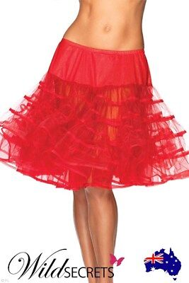 NEW Leg Avenue A-Line Skirt RED, Costume, Womens Sexy Lingerie, Petticoat