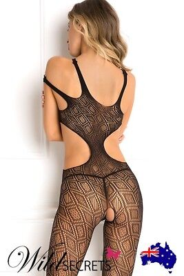 NEW Rene Rofe Made the Cut Bodystocking, Womens Sexy Lingerie, Wild Secrets
