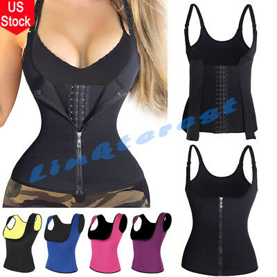 Womens Sweat Sauna Body Shaper Slimming Vest Thermo Neoprene Waist Trainer Camis