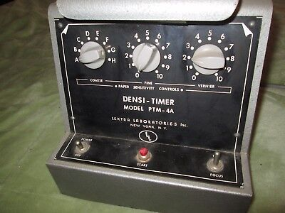 Antique Densi-Timer PTM-4A Lextra Laboratories Darkroom Timer 50s