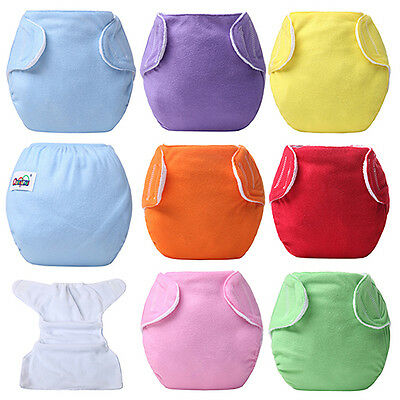BL_ Baby Newborn Diaper Cover Adjustable Reusable Nappies Cloth Wrap Diapers Ama