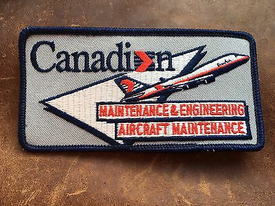 Canadian Airlines CP Air Aircraft Maintenance & Engineering Sew On Vintage Patch