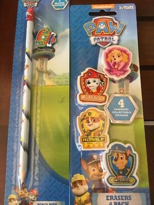 Paw Patrol Set Eraser Pencil