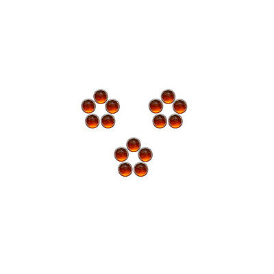 4x4mm 15pc Fine Quality Rose Cut Faceted Cabs Natural Hessonite Garnet