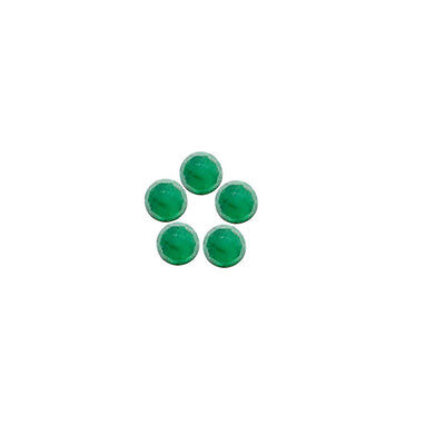 6x6mm 5pc Rose Cut Faceted Cabochon Natural Green Emerald Loose Gems