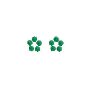 4x4mm 10pc Rose Cut Faceted Cabochon Natural Green Emerald Loose Gems