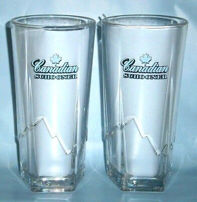 Canadian Club Schooner Tumblers 350 ml pair brand new for home bar or collector