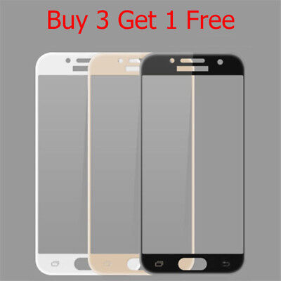 Full Cover Tempered Glass Film Screen Protector For Samsung Galaxy J3 J5 J7 2017