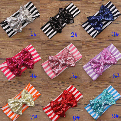 New Girl Baby Toddler Infant Turban Knot Rabbit Headband Bow Hairband Head Band