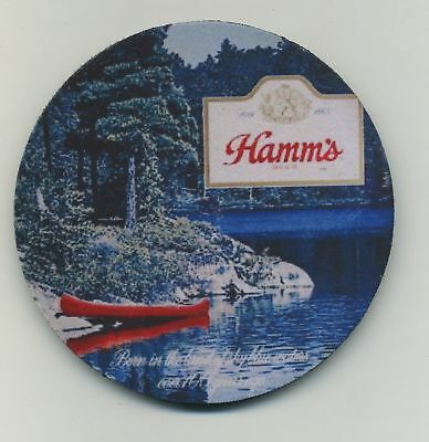 Hamm's Beer - Sky Blue Waters - Coaster Set 4  - Red Canoe