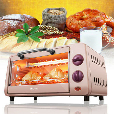 Stainless Steel Electric Toaster Convection Oven Broiler Kitchen Countertop Bake