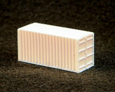 2 x 20' Shipping Containers 37x16x16mm unpainted Cast Resin N 1/160 scale