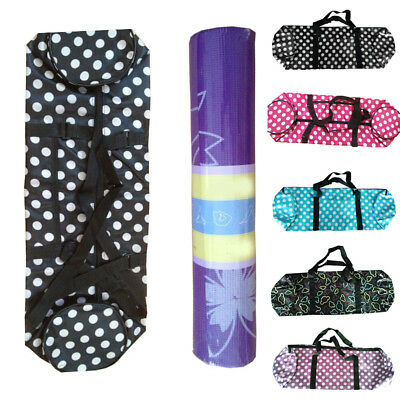 Waterproof Yoga Mats Carrier Bag with Strap Zippered Sports Fitness Backpack
