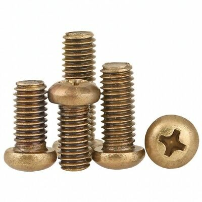 M2 M2.5 M3 M4 Solid Brass Phillips Pan Round Head Screws Multi Purpose Screws