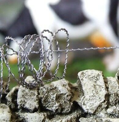 BARBED BARB WIRE 5m Long HO 1/87 1/35 any scale Wargaming Farm Fence Fencing