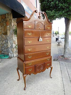 Outstanding Shop Made Mahogany Queen Anne Highboy 20th Century