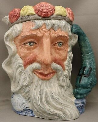 """Royal Doulton Large Character Jug - """"Neptune"""" - D 6548 - *Designed by Max Henk**"""