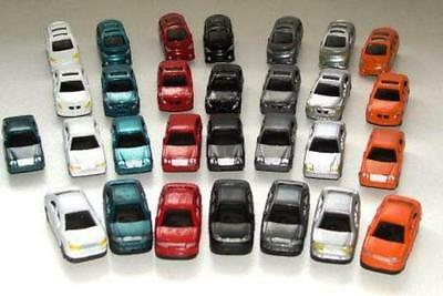 20 CARS HO 1/100 to 1/87 Scale Vehicles 45x17mm BMW Mercedes Toyota GMH Plastic