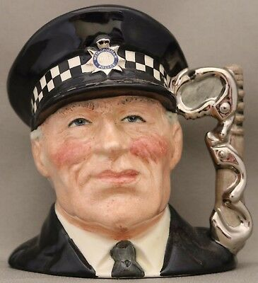 """Royal Doulton Small Size Character Jug - """"The Policeman"""" D6852 - Limited Edition"""