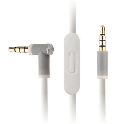WHITE Audio Cable w/ RemoteTalk for Solo2 Beats by Dr Dre Headphones - Solo HD