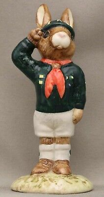 """Royal Doulton Bunnykins - """"Be Prepared"""" DB56 - English-made Issued 30 years ago."""