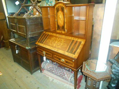 Inlaid Bureau Mixed Woods Fitted Interiour Beautiful Quality Storage  Books