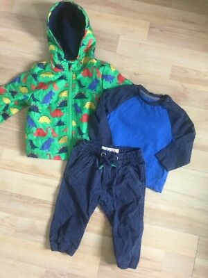 Next, Mothercare Baby Boys Autumn Outfit 6-9 Raincoat, Bottoms, Tops