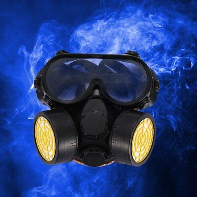 Gas Chemical Anti-Dust Paint Face Respirator Mask Glasses Goggles Set Ease