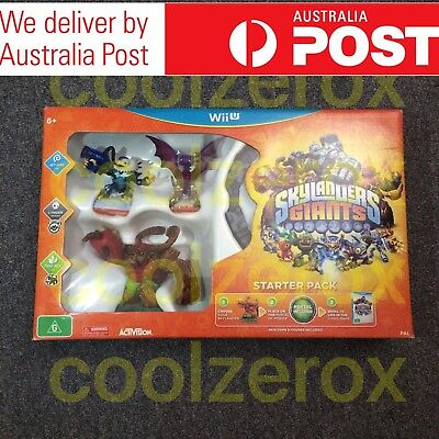Skylanders Giant Wii U Starter Pack Portal & Games Included-Aus Seller