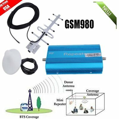 3/4G 900MHZ for AT&T Verizon Mobile Phone Signal Booster Repeater Amplifier Kit@