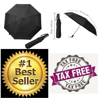 Automatic Open Close Umbrella Extra Large Vented Double Canopy Windproof Classic