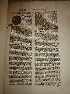 1485 THOMAS AQUINAS SUMMA THEOLOGICA INCUNNABULA INCUNABLE Michael Wenssler