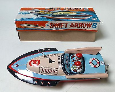 Swift Arrow 8 Modern Toys Japan no. 3161, 60er Jahre, Blech, Kurbel, O-Karton