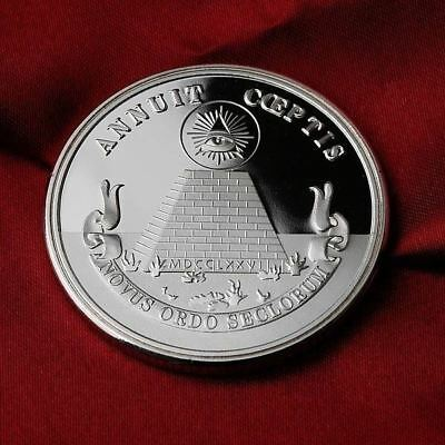 1 Troy oz  .999 Fine Silver Round  Bullion / All-seeing eye  /   SB1G6