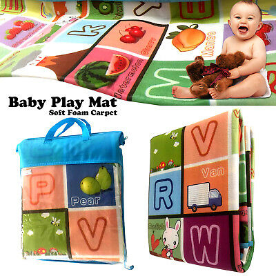 New 2 Sided Kids Crawling Educational Game Baby Play mat Soft Foam Carpet