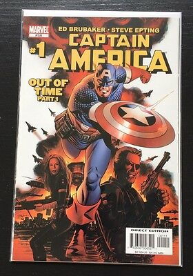 Captain America 5th Series #1 (Jan 2005, Marvel) Out of Time Part 1 Ed Brubaker