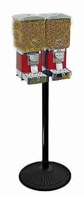2 Deluxe Animal Feed Vending Machines & Heavy Weight Cast Iron Stand - Fish Bird