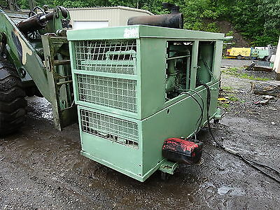 Sullair 375 CFM Air Compressor DETROIT DIESEL RUNS EXC. VIDEO!! SKID MOUNT